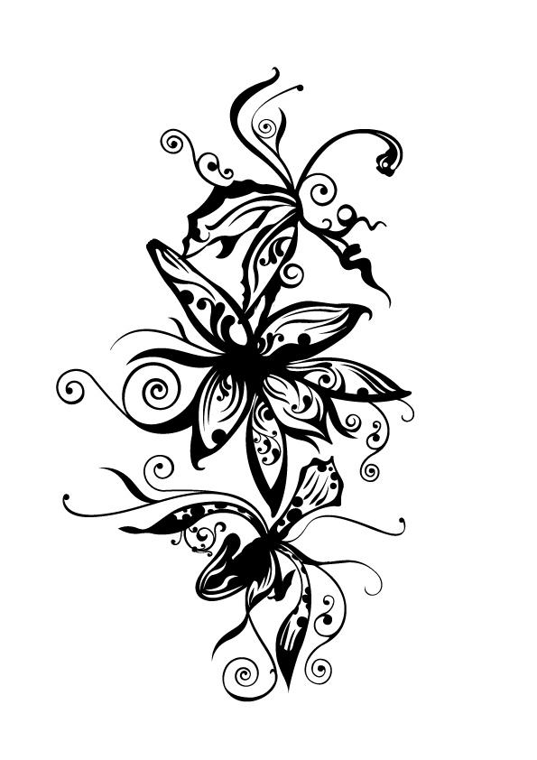 Dessin D Orchidee Pour Tatouage Tuer Auf
